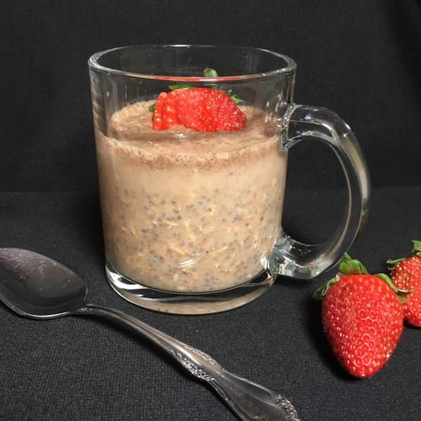 almond milk overnight chia oats photos