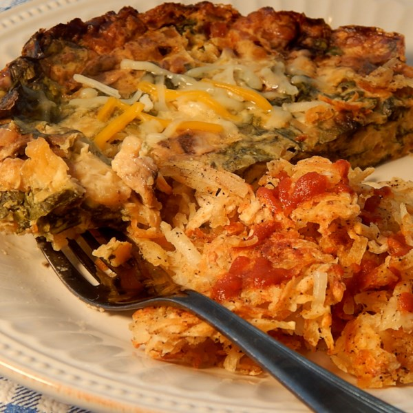 egg spinach and mushroom slow cooker casserole photos