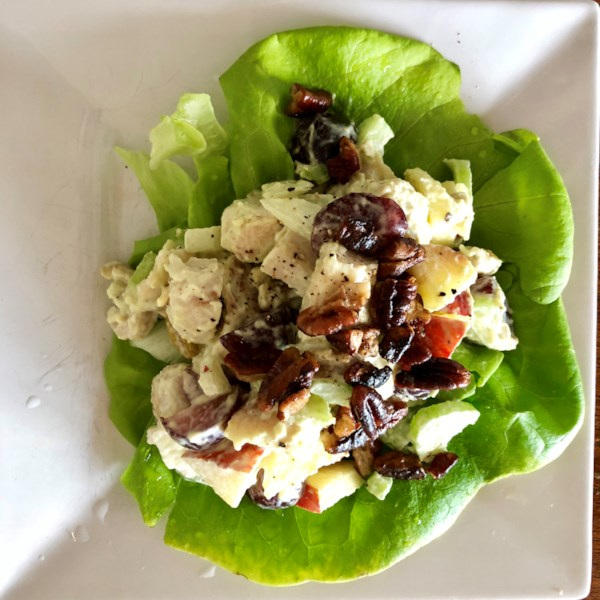 fruity curry chicken salad photos