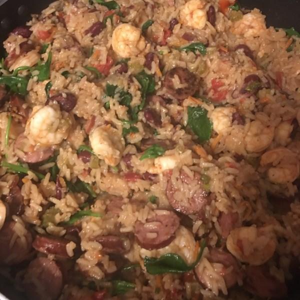 shrimp and smoked sausage jambalaya photos