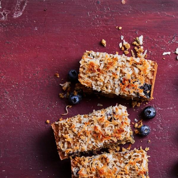 blueberry oatmeal breakfast bars photos