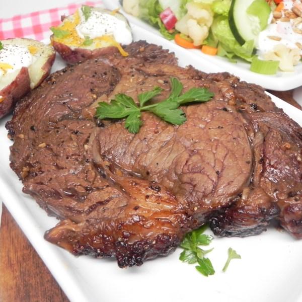 air fryer rib eye steak photos