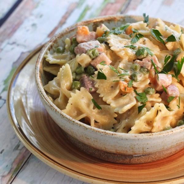 one pot ham and veggie pasta photos