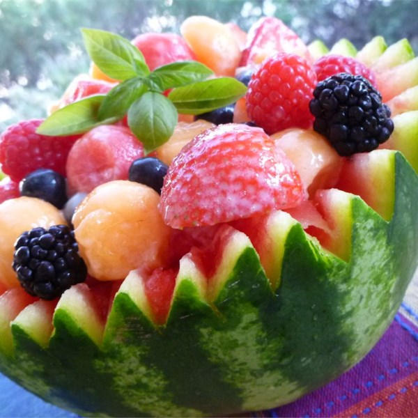 strawberry melon summer salad photos