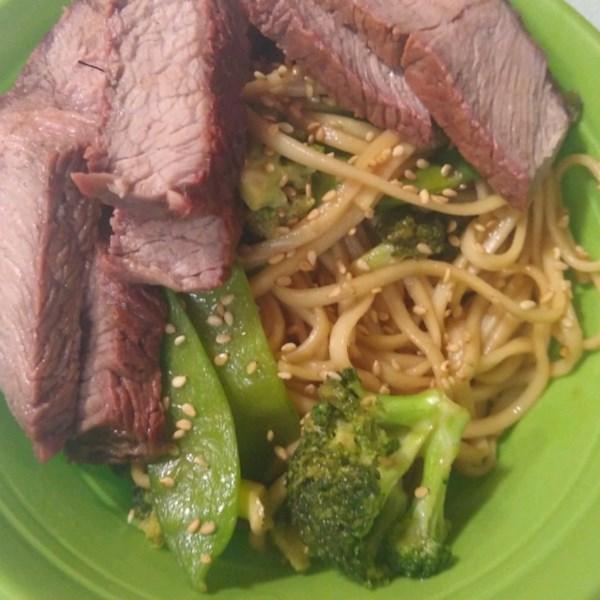 asian steak and noodle bowl photos