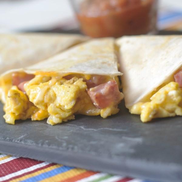 ham egg and cheese quesadillas photos