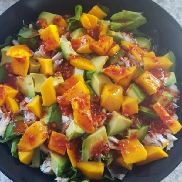 chicken avocado and mango salad photos