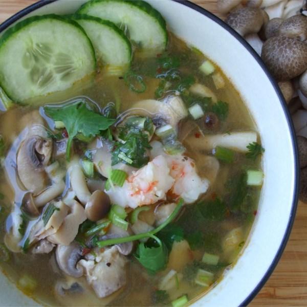 super hot and sour shrimp soup photos
