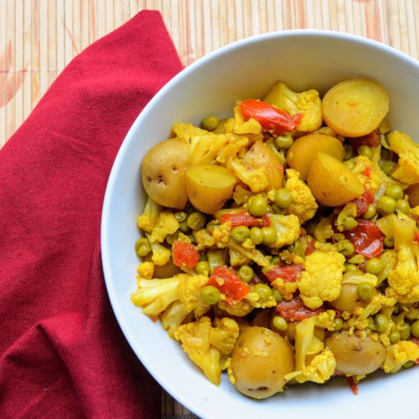 slow cooker vegetarian curry photos