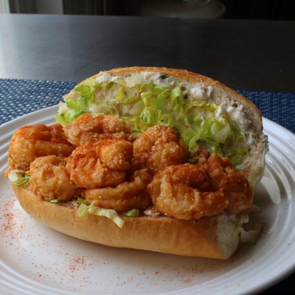 firecracker shrimp roll with crab aioli photos