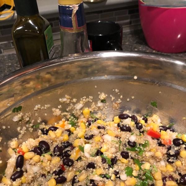 black bean corn and quinoa salad photos