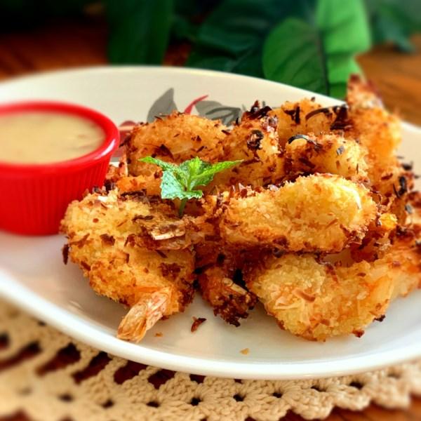 air fryer coconut shrimp photos
