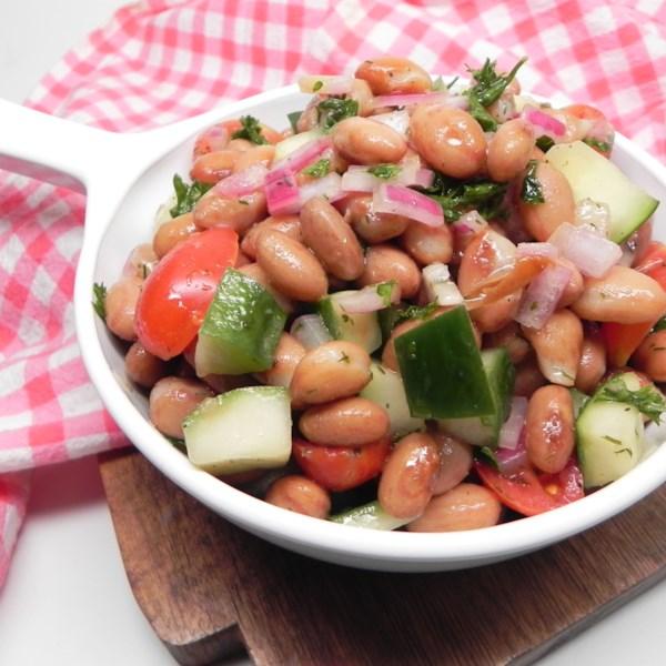 cranberry bean salad photos