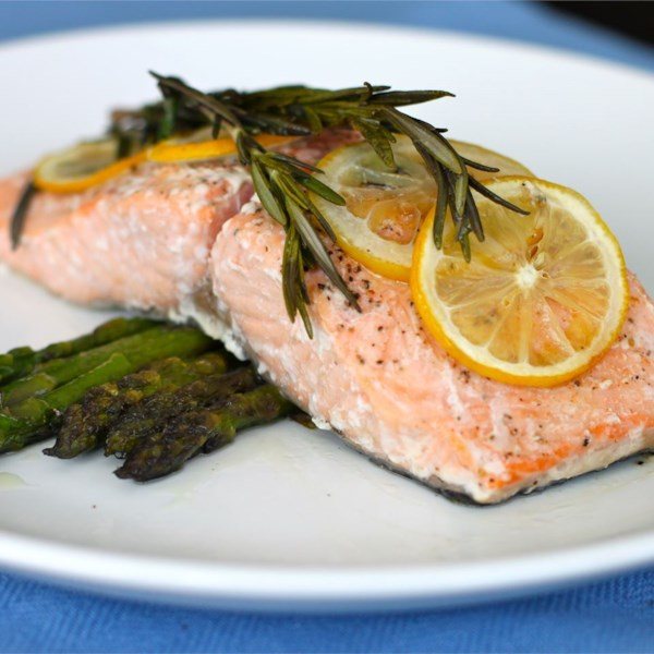 lemon rosemary salmon photos