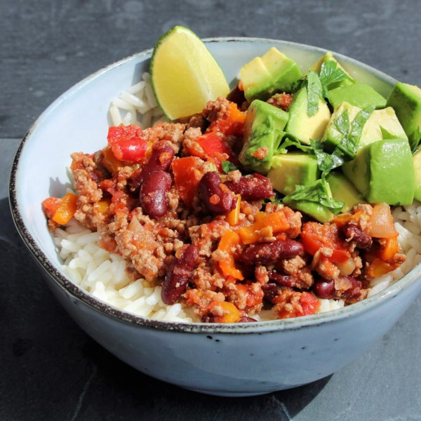 mexican turkey and rice bowl photos
