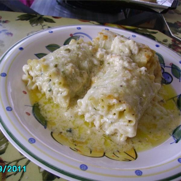 lasagna alfredo roll ups photos