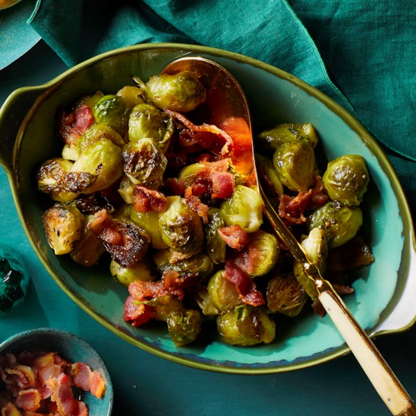 maple bacon brussels sprouts photos