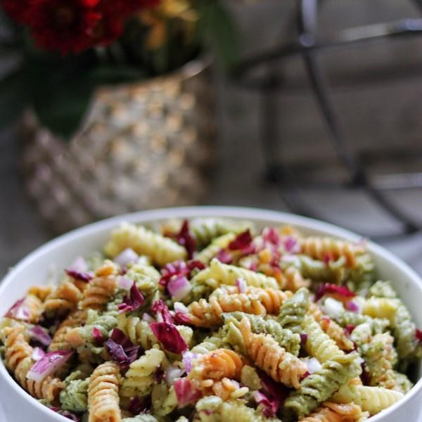 mayas perfect pesto pasta salad photos