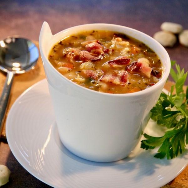 bean bacon and pepper soup photos