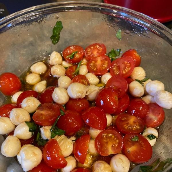 tomato and mozzarella bites photos