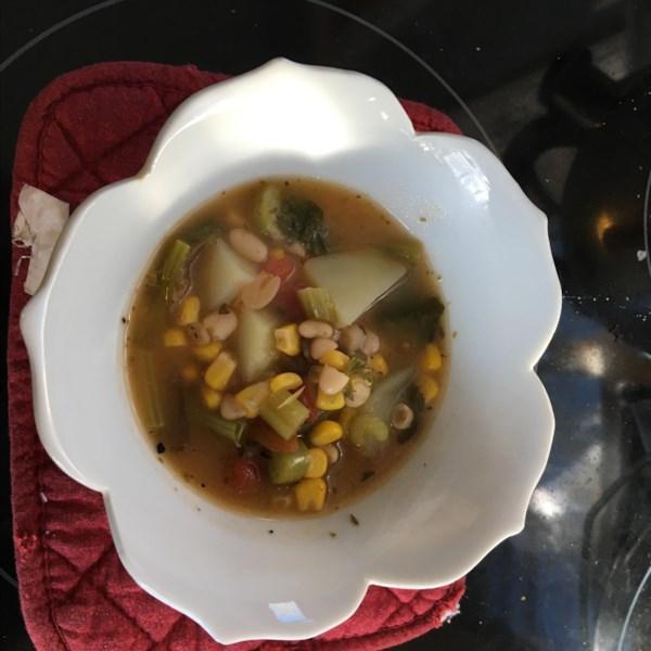 vegetarian kale soup photos