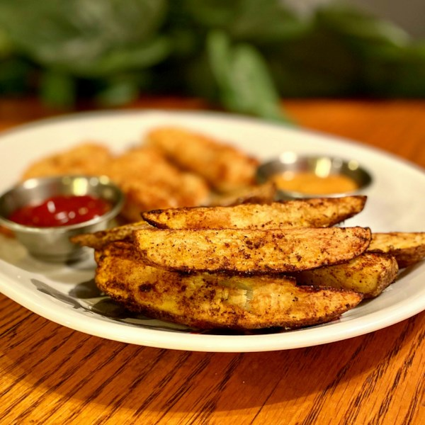 air fryer potato wedges photos