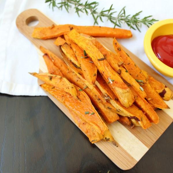 roasted sweet potato wedges photos