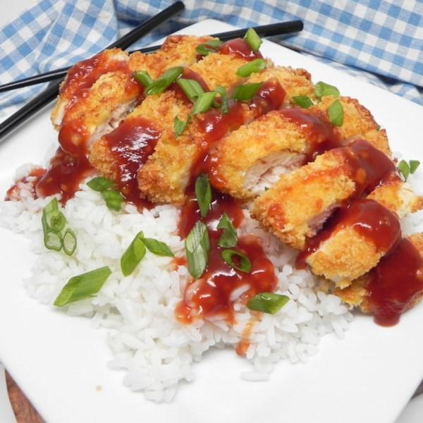 air fryer chicken katsu with homemade katsu sauce photos