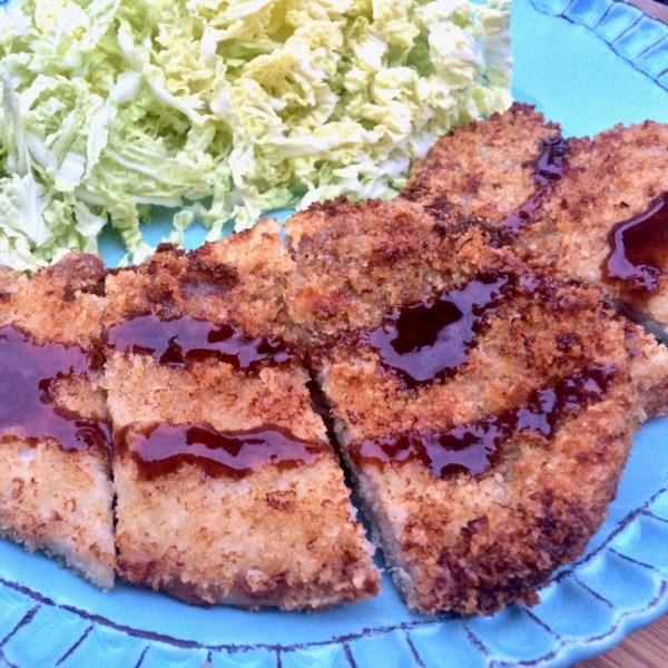 japanese air fried pork tonkatsu photos