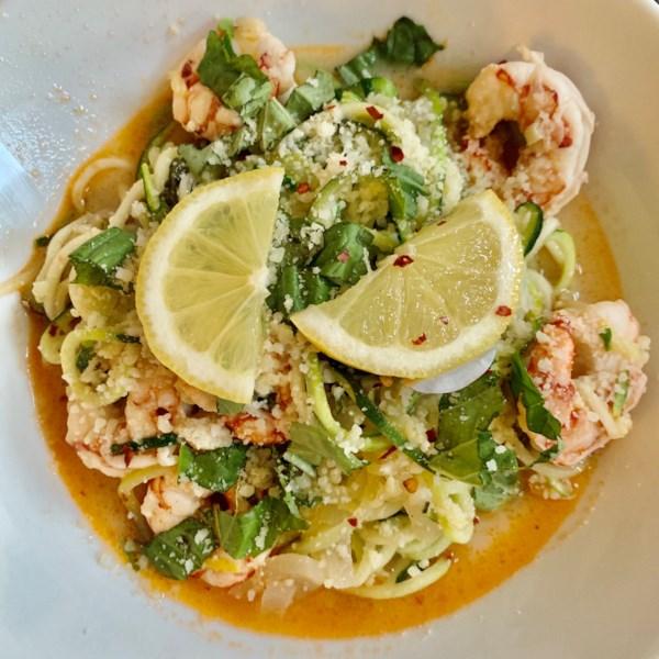 zucchini noodle shrimp scampi photos