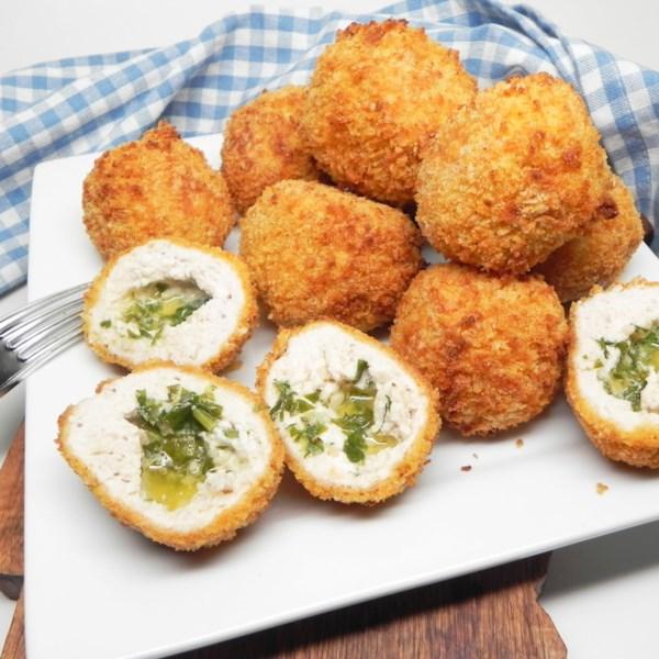 air fryer chicken kiev balls photos
