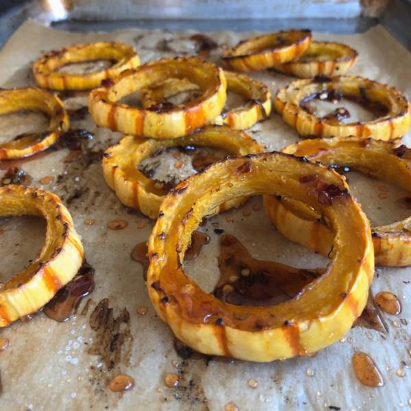 roasted delicata squash with hot honey photos
