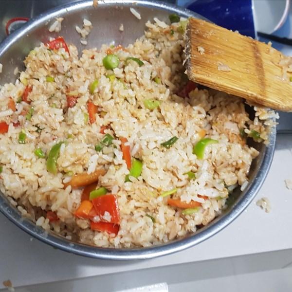 spicy tuna rice bowl photos