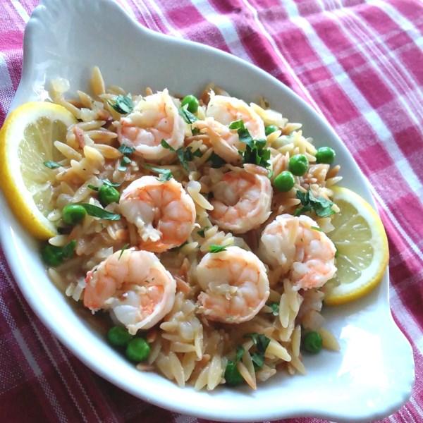one pot shrimp scampi orzo photos