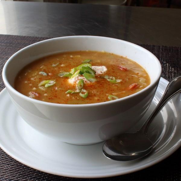 hungarian potato and sausage soup photos