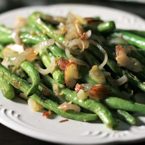 roasted green beans and shallots photos