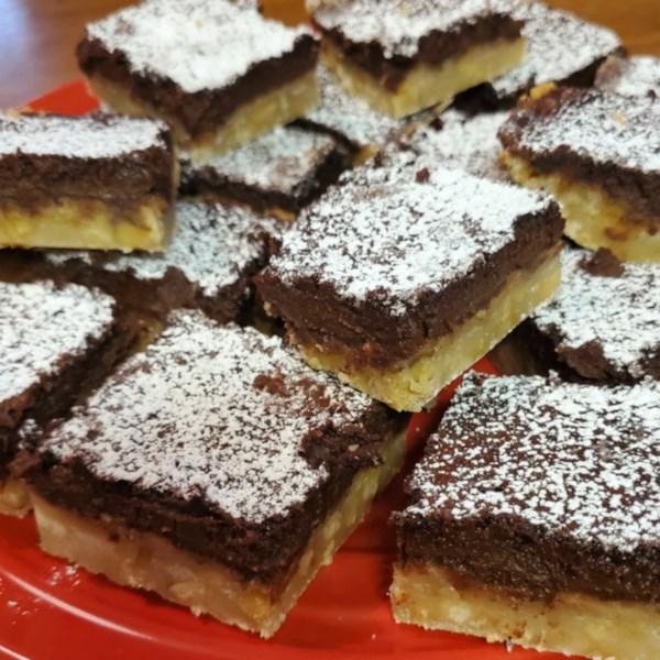 chocolate walnut bars photos