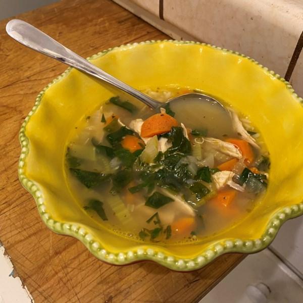 lemon chicken orzo soup photos