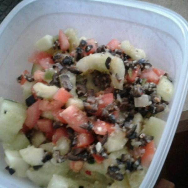 greek garbanzo bean salad photos