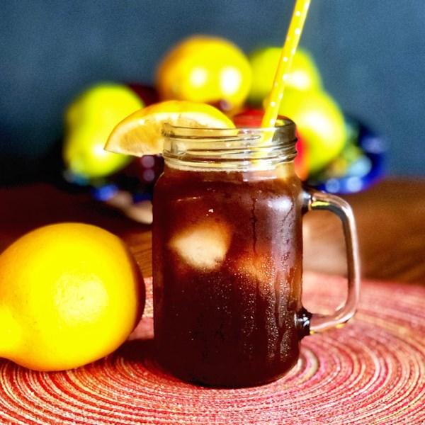 iced lemon coffee photos