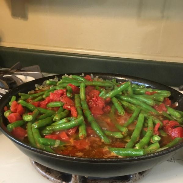 greek green beans photos