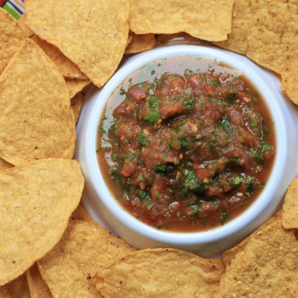 air fryer roasted salsa photos