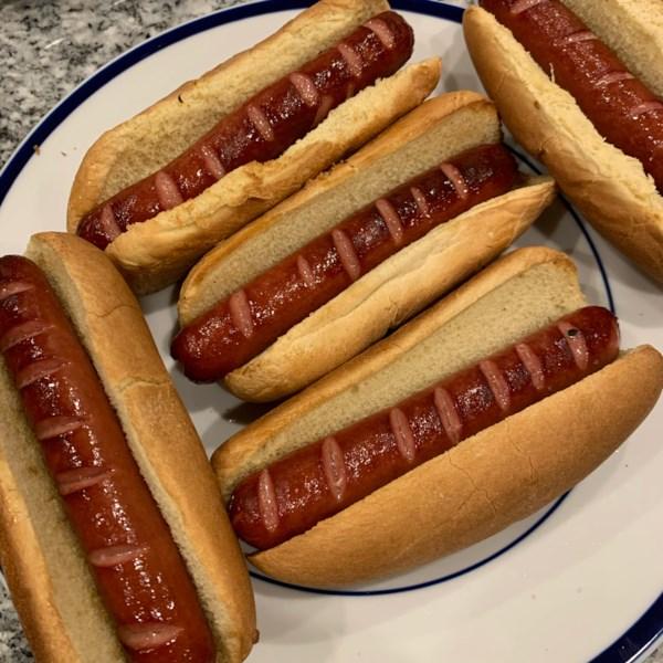 basic air fryer hot dogs photos