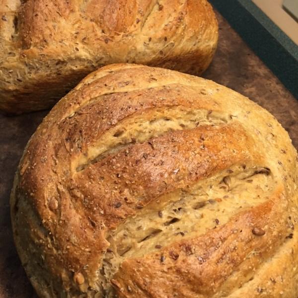 cracked wheat sourdough bread photos