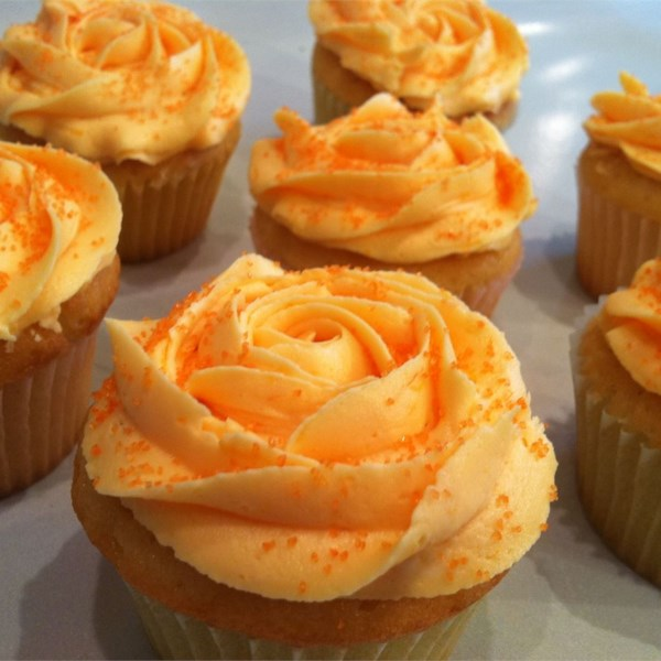 dreamy orange cupcakes photos