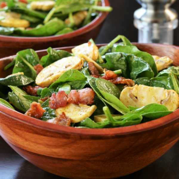 spinach salad with curry vinaigrette photos