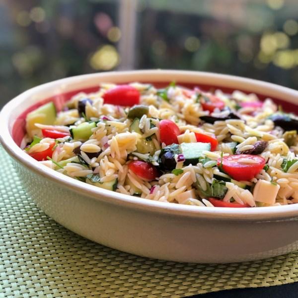 mediterranean orzo salad photos