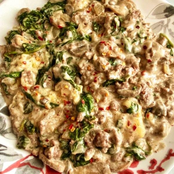 ground beef spinach casserole photos