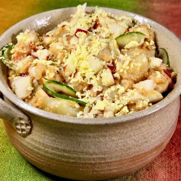 korean potato salad photos