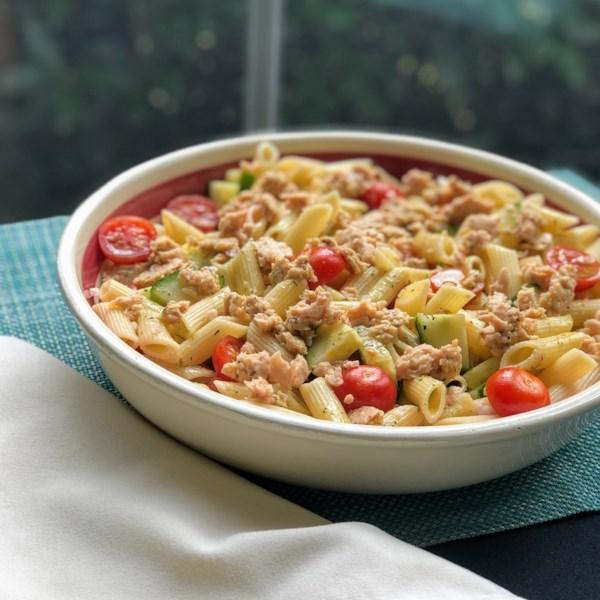 mediterranean salmon pasta salad photos